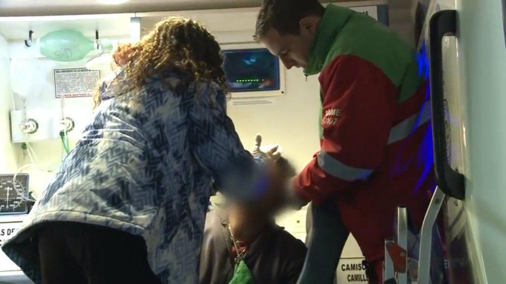 El hombre resultó herido tras discutir con su mujer y un taxista