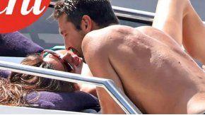 Gianluigi Buffon y Ilaria DAmico, a los besos