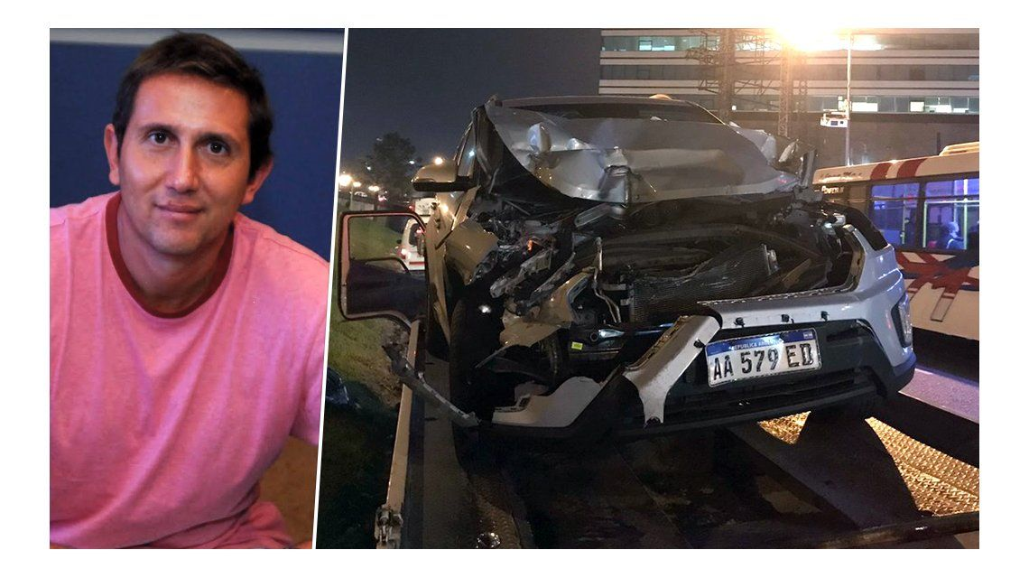 El periodista Juan Pablo Varsky chocó en Panamericana