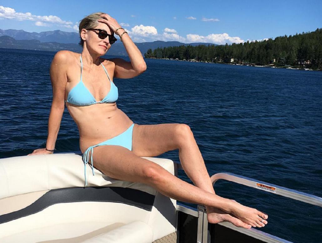 Sharon Stone, diosa a los 59 años: mirá sus fotos en bikini triangulito