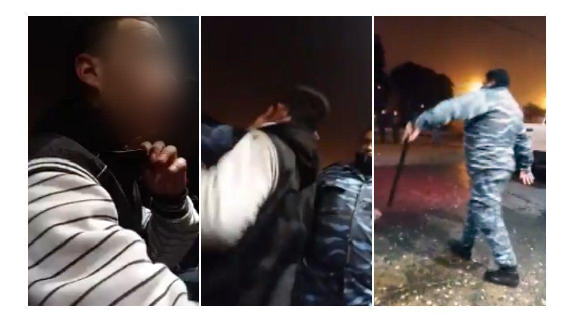 Un policía le pegó a un joven y se burlaron de él en las redes