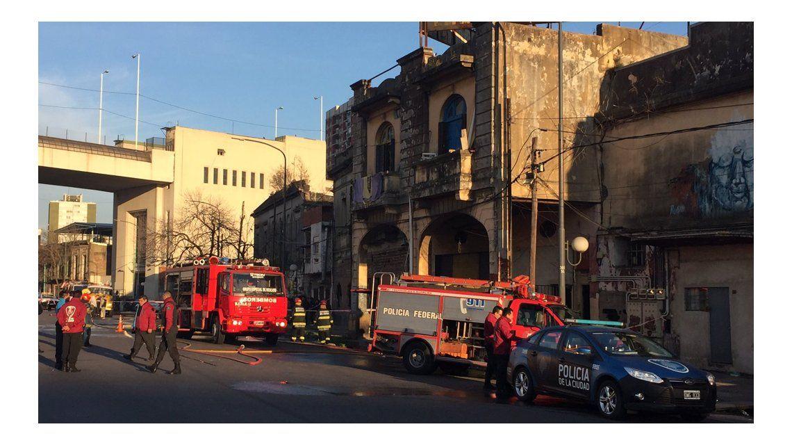 En el lugar trabajaron tres dotaciones de bomberos