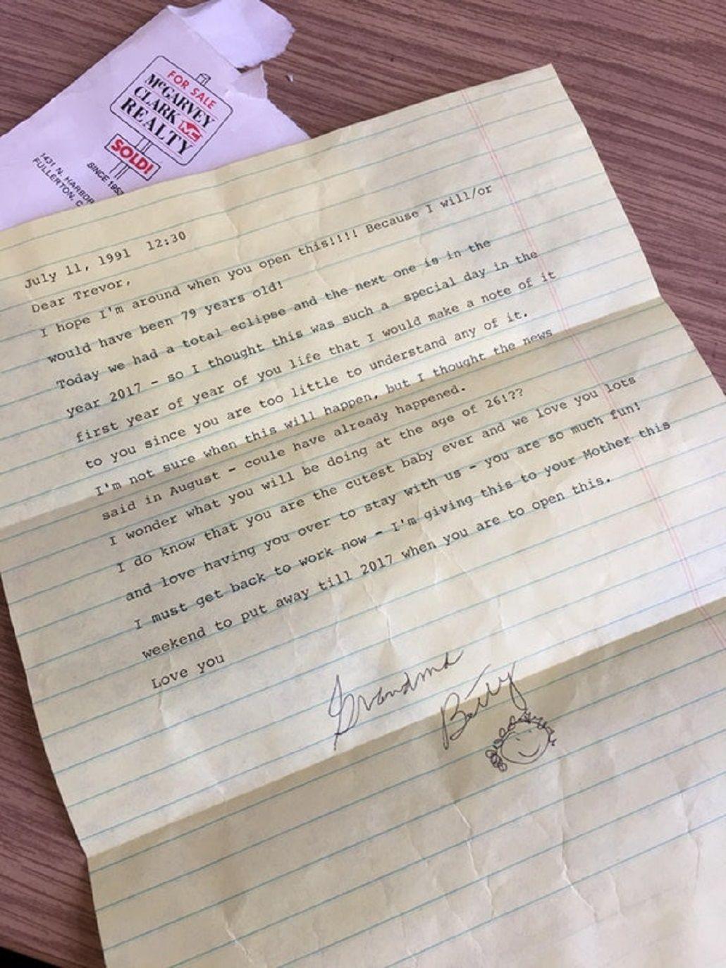 La carta que le escribió su abuela hace 26 años y se volvió viral