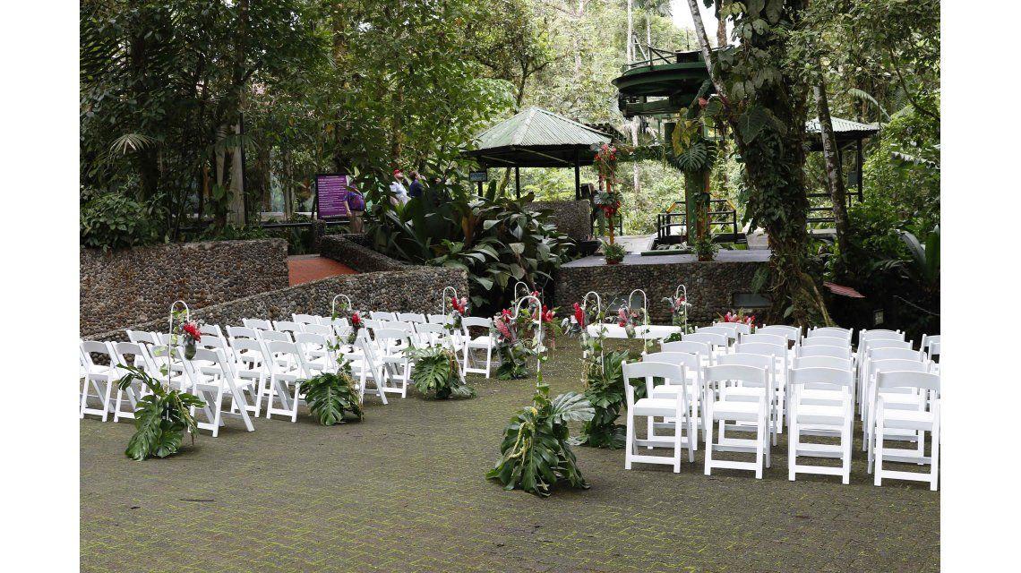 Una ceremonia rústica y a la vez elegante