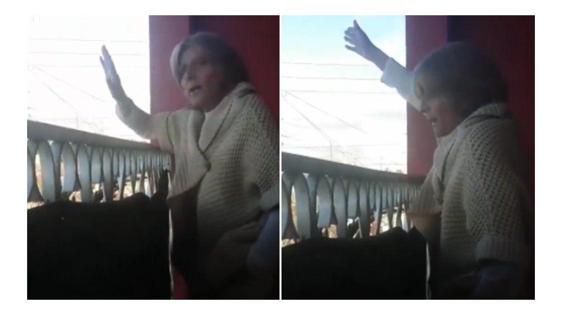 Acá no rompas las pelotas, la reacción de una señora al timbreo de Cambiemos