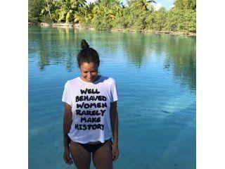 Julieta Ortega en Bora Bora