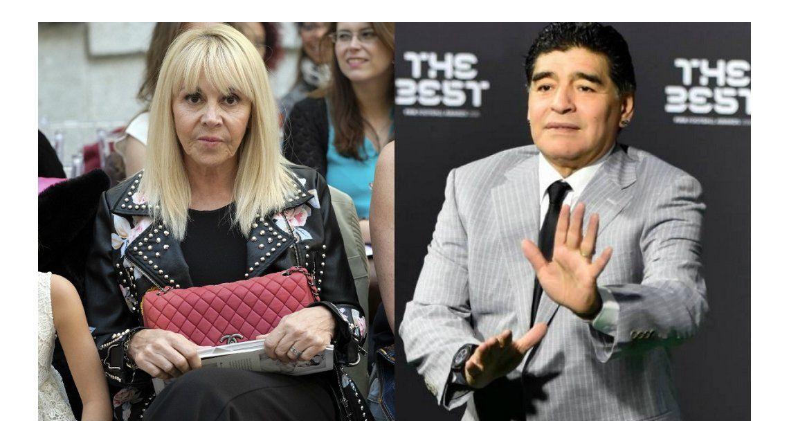 Claudia Villafañe demandará a Diego Maradona por calumnias e injurias