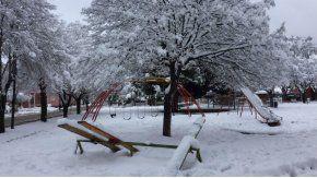 Así amaneció Bariloche este sábado