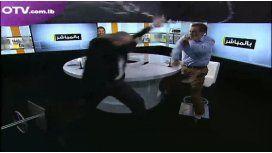 Pelea en la TV del Líbano