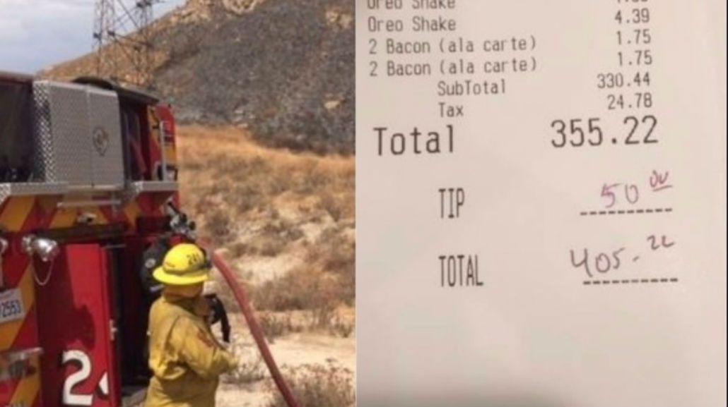 Una mujer anónima le regaló la cena a 25 bomberos