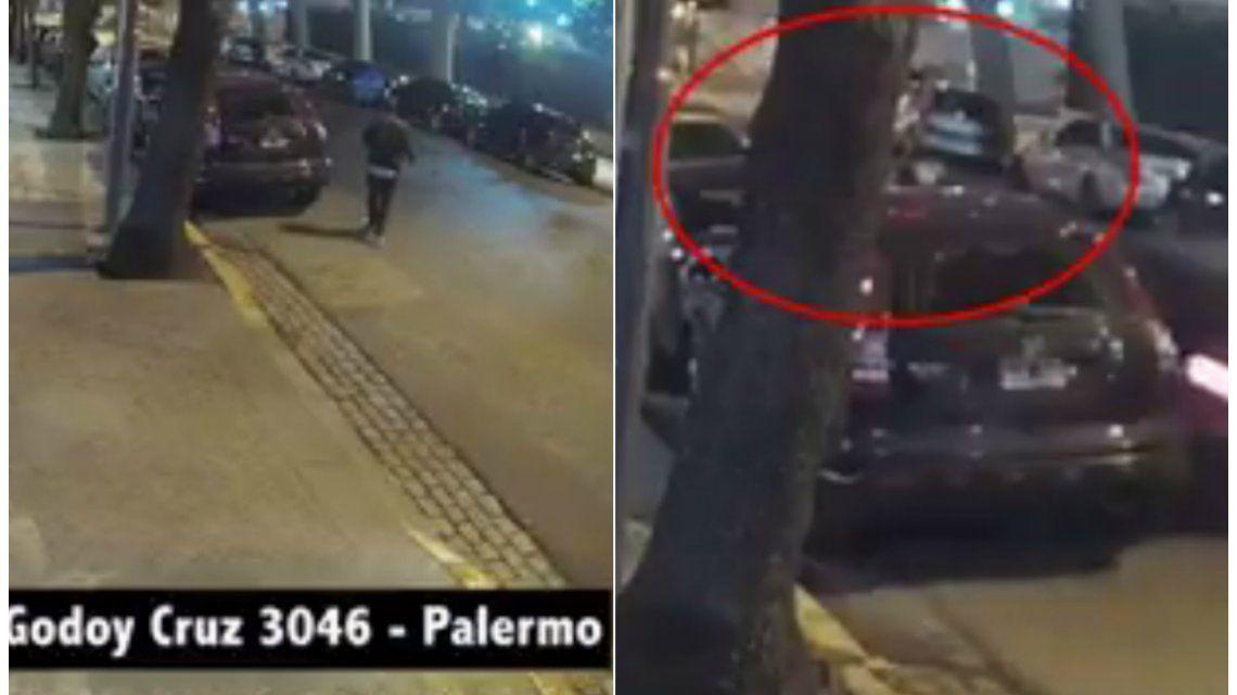 Así lo atropellaron en Palermo