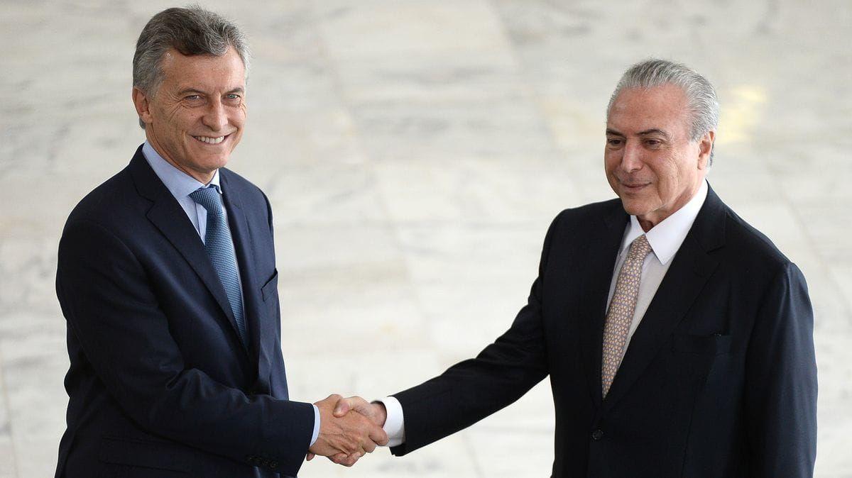Mauricio Macri y Michel Temer<br>