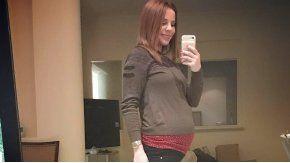 Agustina Kämpfer, embarazada