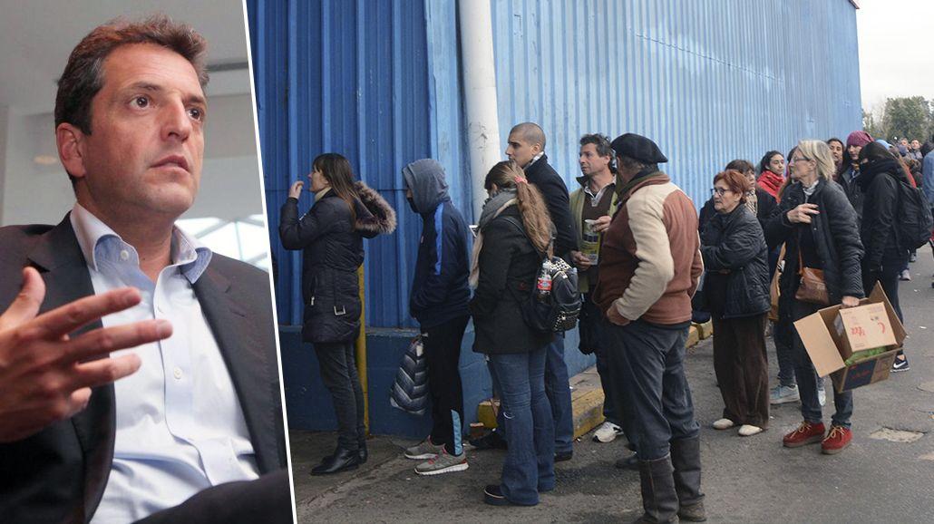 Massa habló sobre el caos por el descuento del Banco Provincia