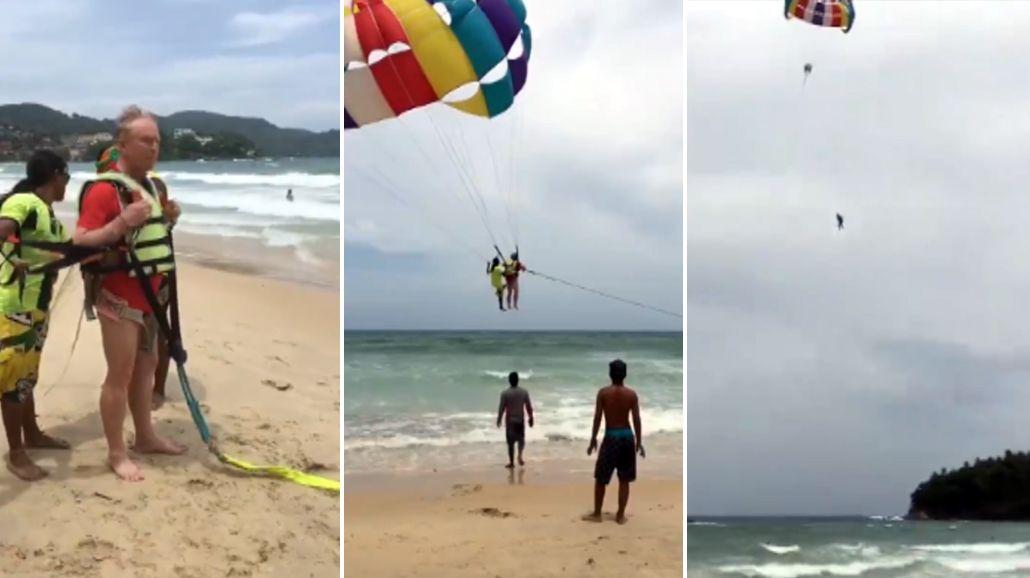 Se cayó haciendo parasailing en Tailandia y murió