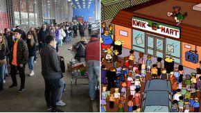 Esto no pasa ni en Springfield, se quejó un cliente
