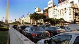Caos de tránsito en la 9 de julio