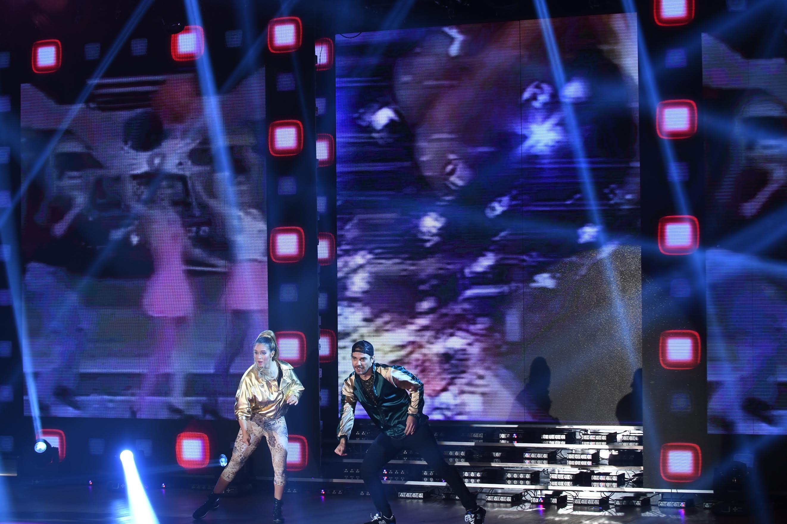 Pedro Alfonso y Flor Vigna bailaron el hit de The Sacados