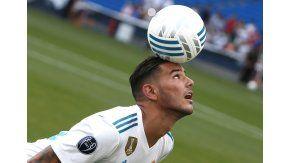 Theo no mostró precisamente un buen dominio del balón