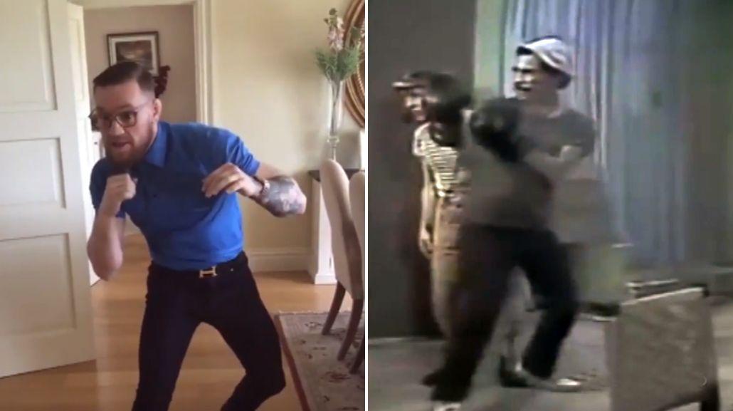 El video más cruel con McGregor: lo comparan con Don Ramón, de El Chavo