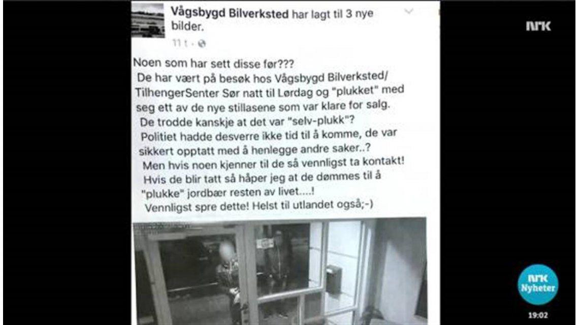 Insólito: deberá pagar 8.000 euros por publicar una foto de los delincuentes que le robaron