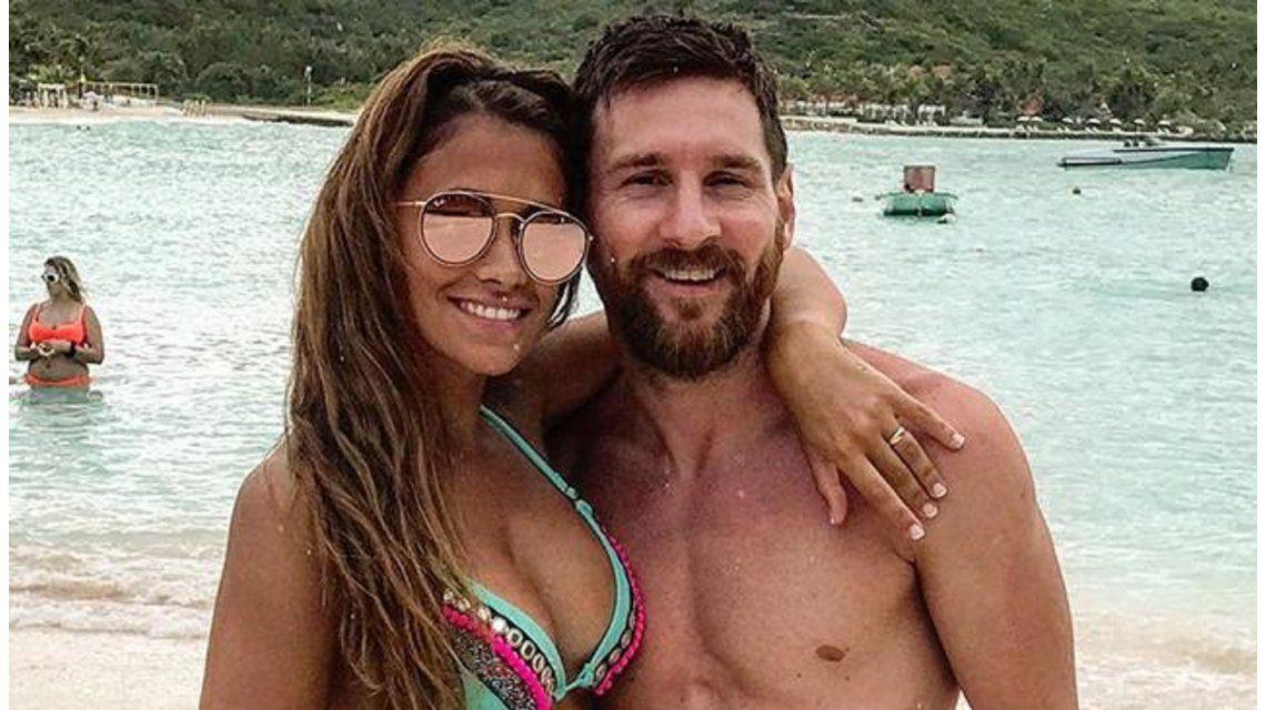 Antonela Roccuzzoy Leo Messi