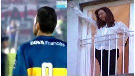 VIDEO: El festejo de CFK cuando pierde Boca
