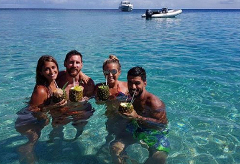 Así pasan el tiempo Messi y Suárez en sus vacaciones en el Caribe