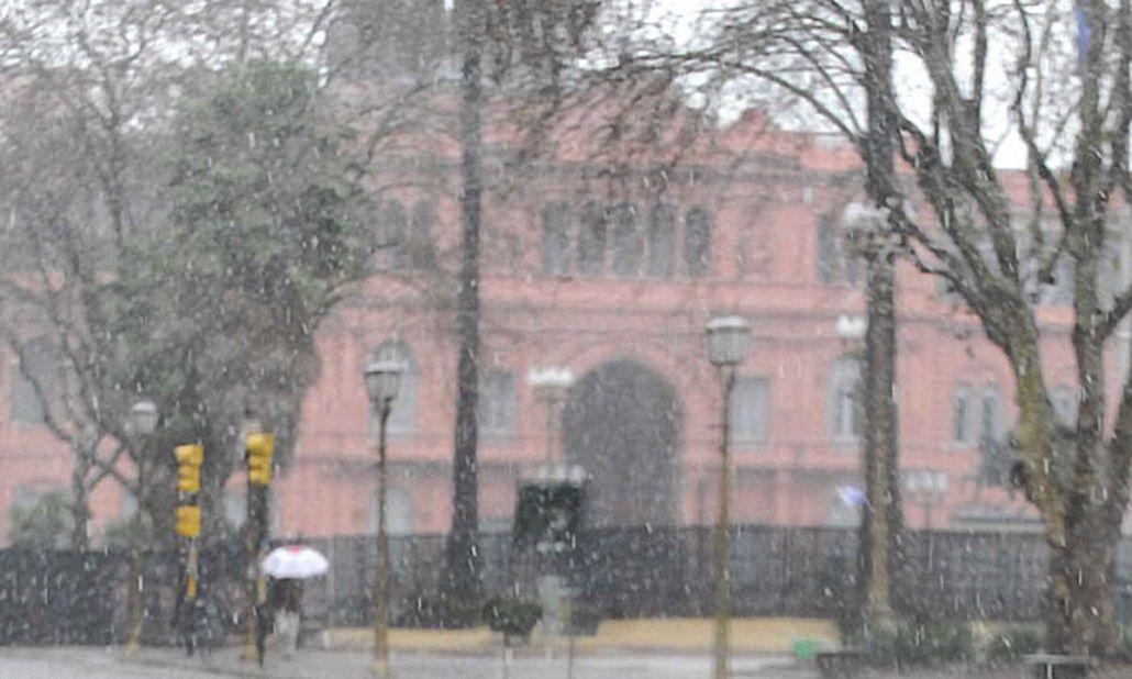¿Qué tiene que pasar para que vuelva a nevar en Buenos Aires?