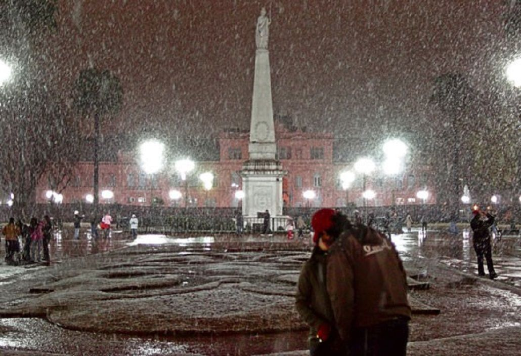 El 9 de Julio de 2007 nevó en Buenos Aires