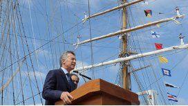 Macri encabeza el acto por el 9 de julio en la Fragata Libertad