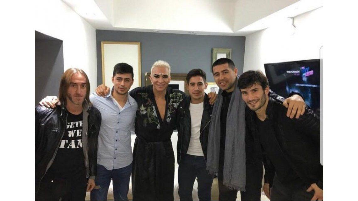 Juan Román Riquelme fue a ver a Flavio Mendoza
