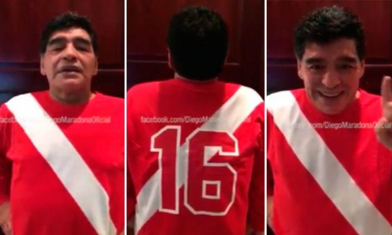 Maradona con la camiseta de Argentinos