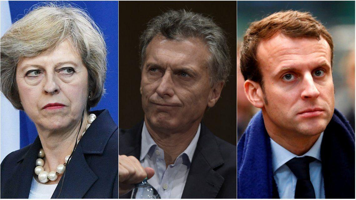 A Macri se le complica reunirse con May y Macron
