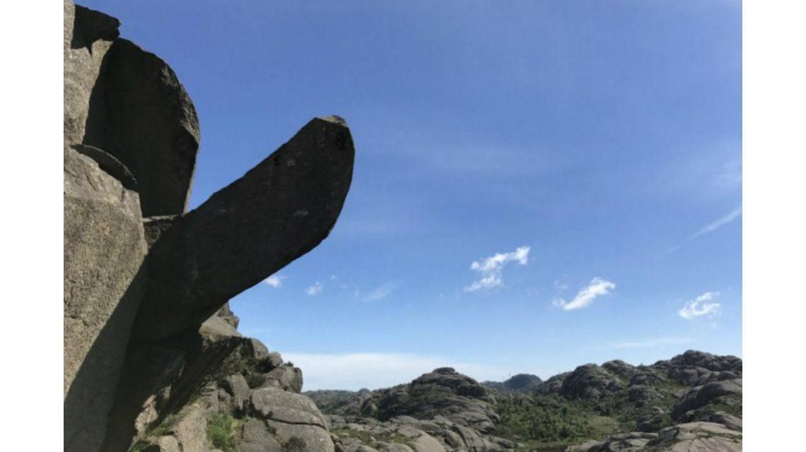 La formación rocosa en toda la plenitud de su estado original