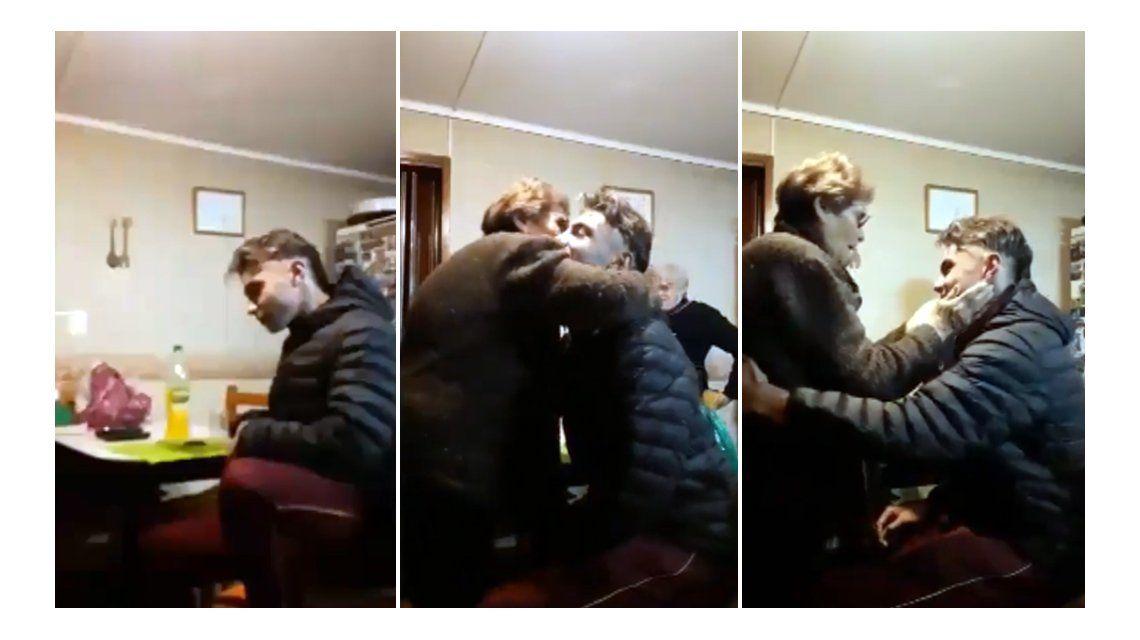 La emoción de una abuela que conmueve a todos