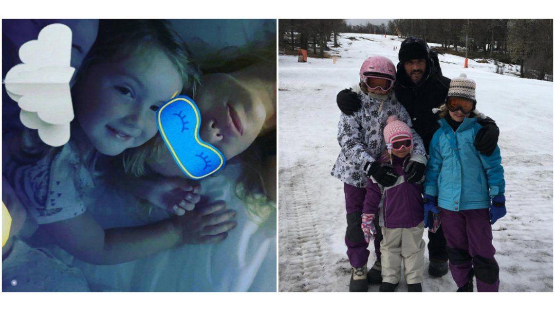 Fabián Cubero pasa las vacaciones con sus hijas y Nicole Neumann las extraña.