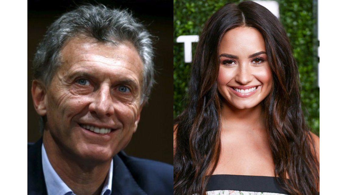 Macri se reunió con Demi Lovato