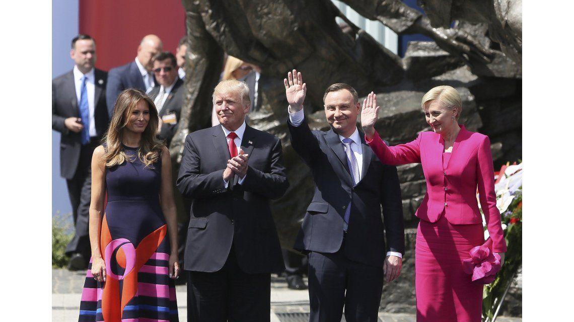 Los Trump con Andrzej Duda y Agata Kornhauser-Duda