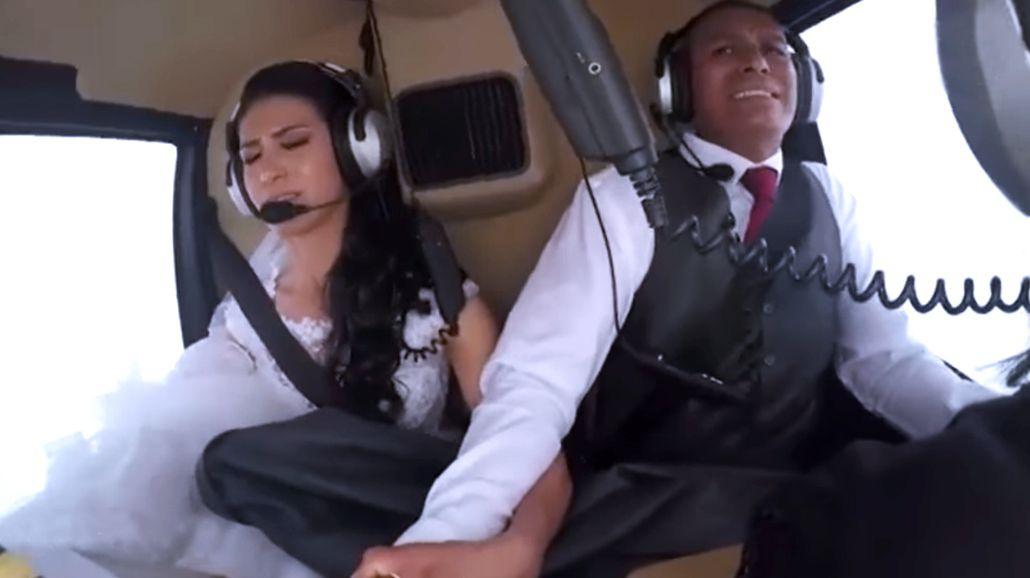 VIDEO: Novia murió cuando iba en helicóptero a su casamiento