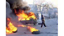 Violenta protesta en la comisaría de Glew