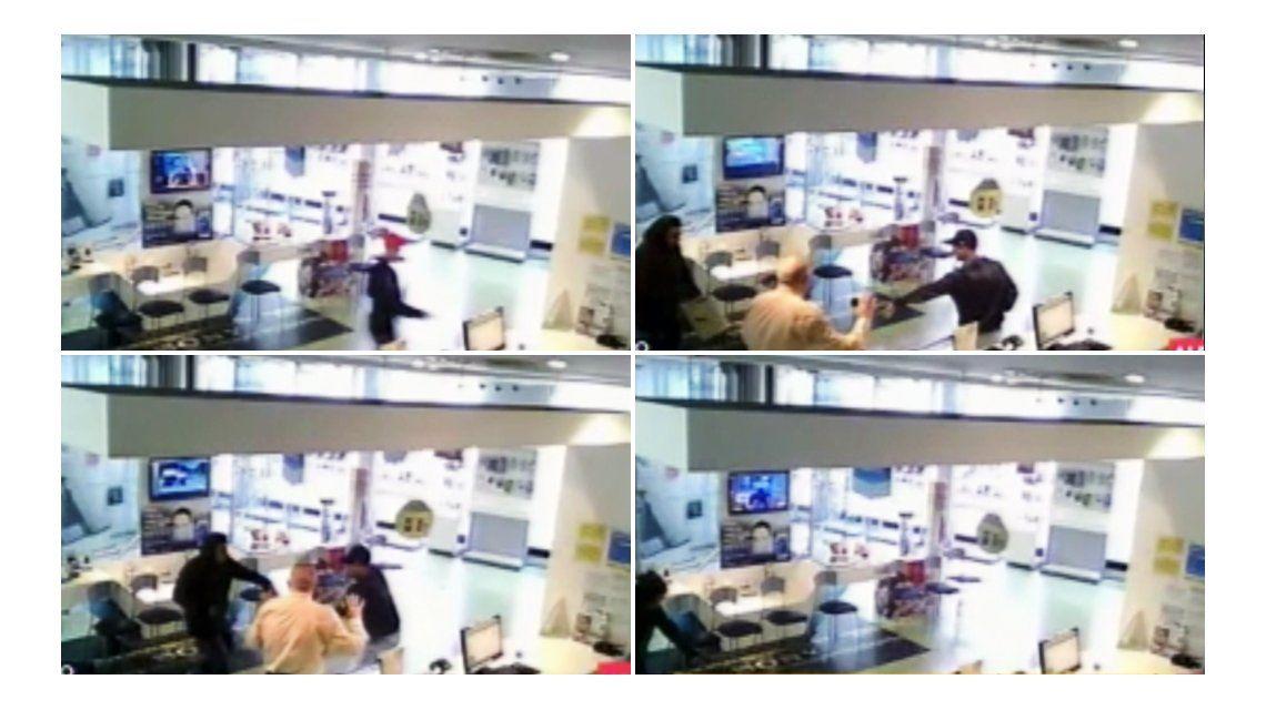 VIDEO: Así roban en los locales de celulares de Belgrano