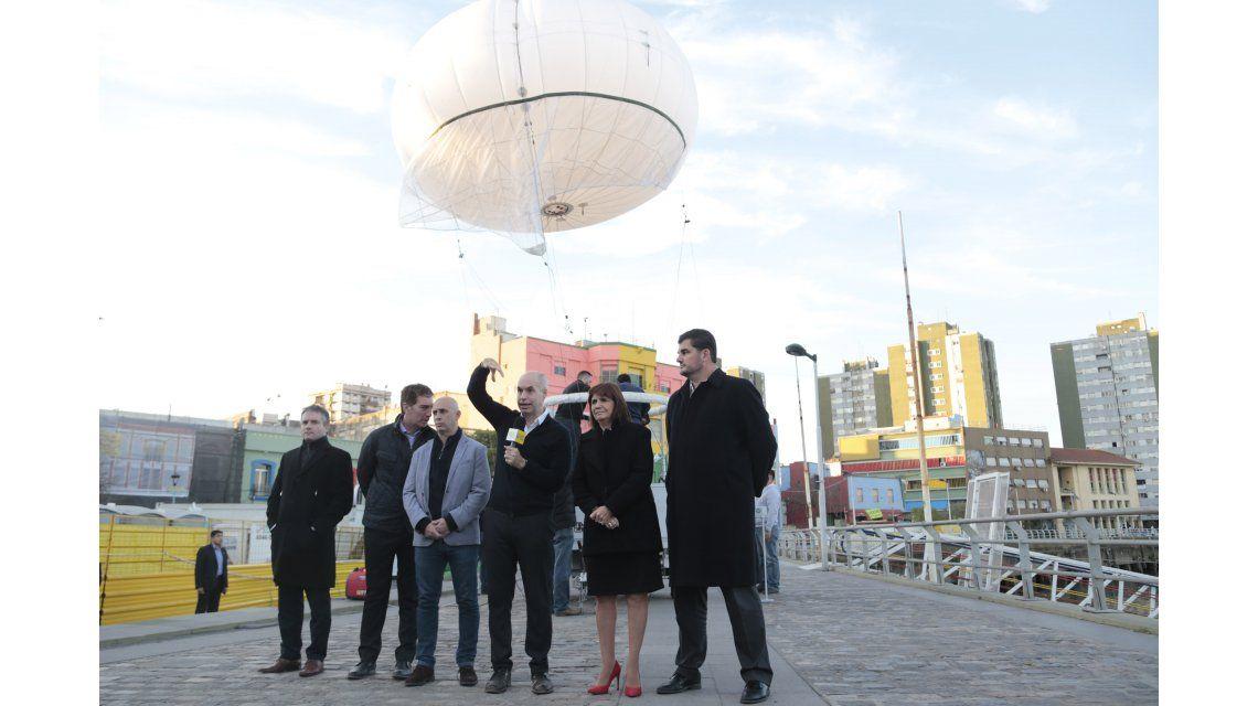 Cómo son los globos aerostáticos de la Ciudad para vigilar movilizaciones
