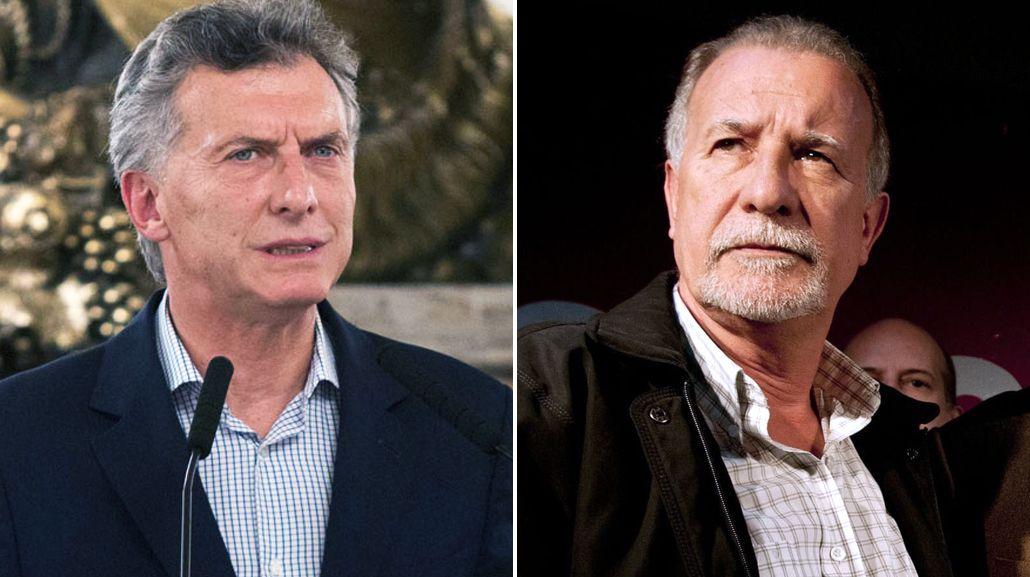 Mauricio Macri y Omar Plaini