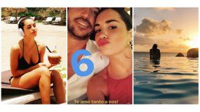 Lali Espósito, enamorada con su novio en paradisíacas playas.