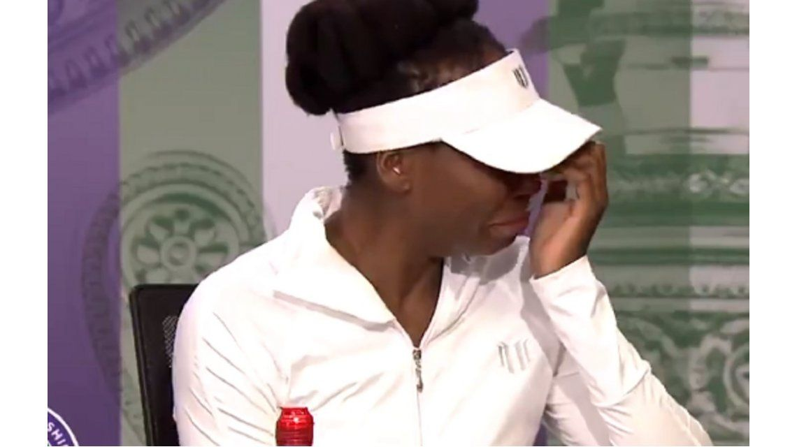 Venus no pudo terminar la conferencia