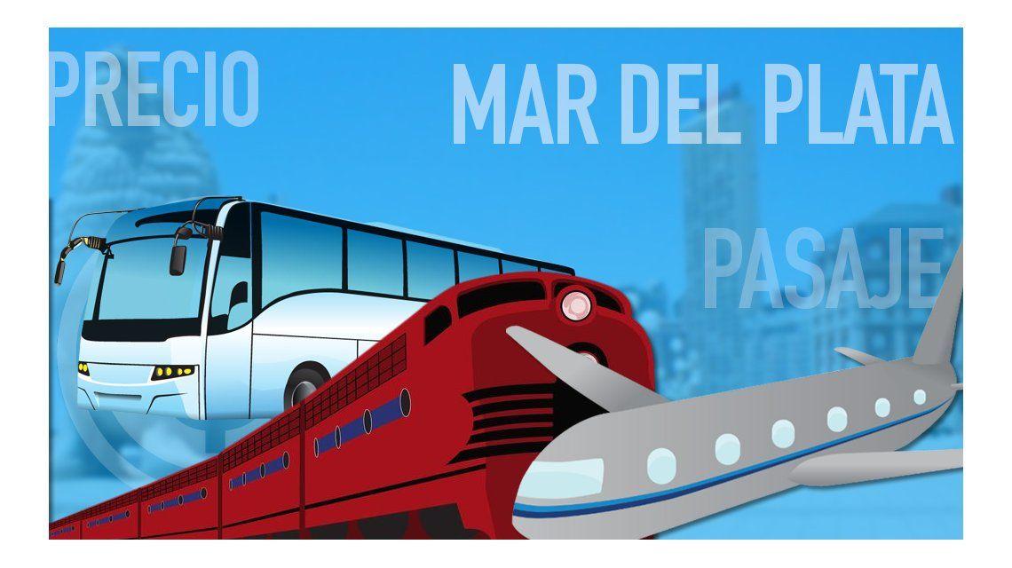Tren, micro, auto o avión: ¿cómo conviene ir a Mar del Plata?