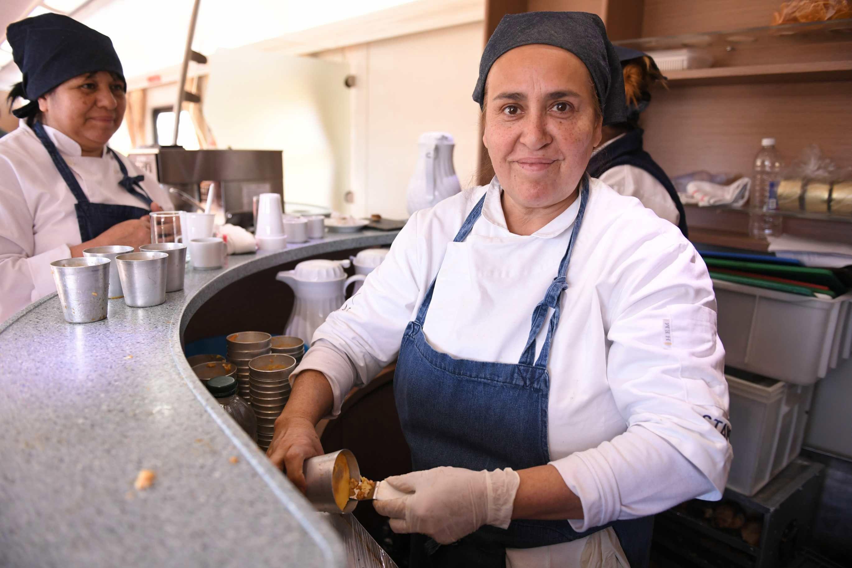 Comedor del tren que va a Mar del Plata