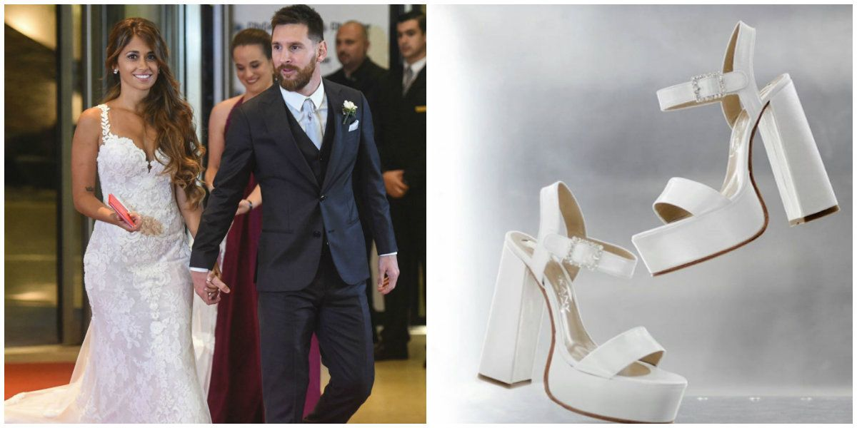 Los zapatos de Antonela Roccuzzo tuvieron un detalle muy especial.