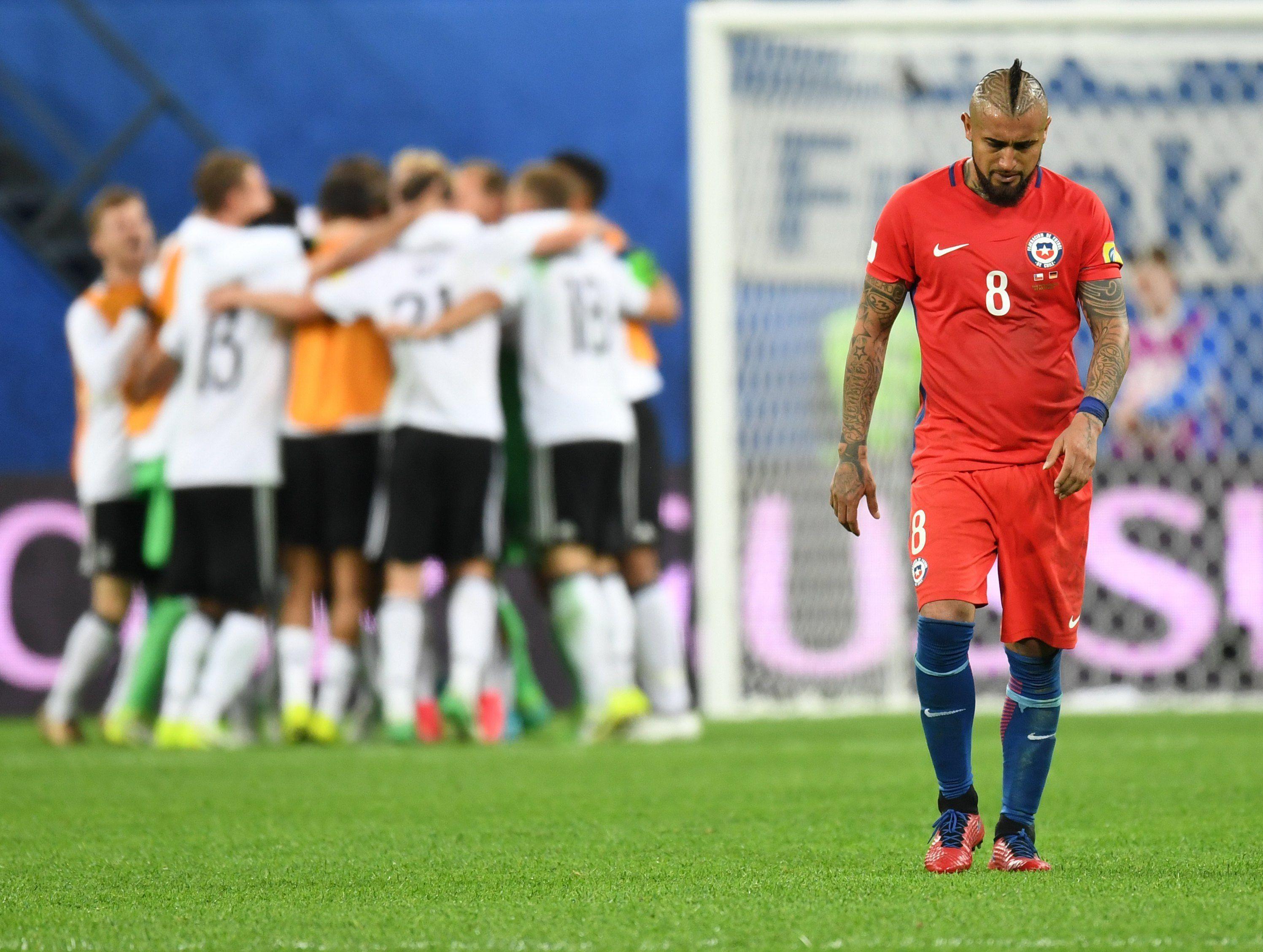 Los alemanes festejan y Vidal